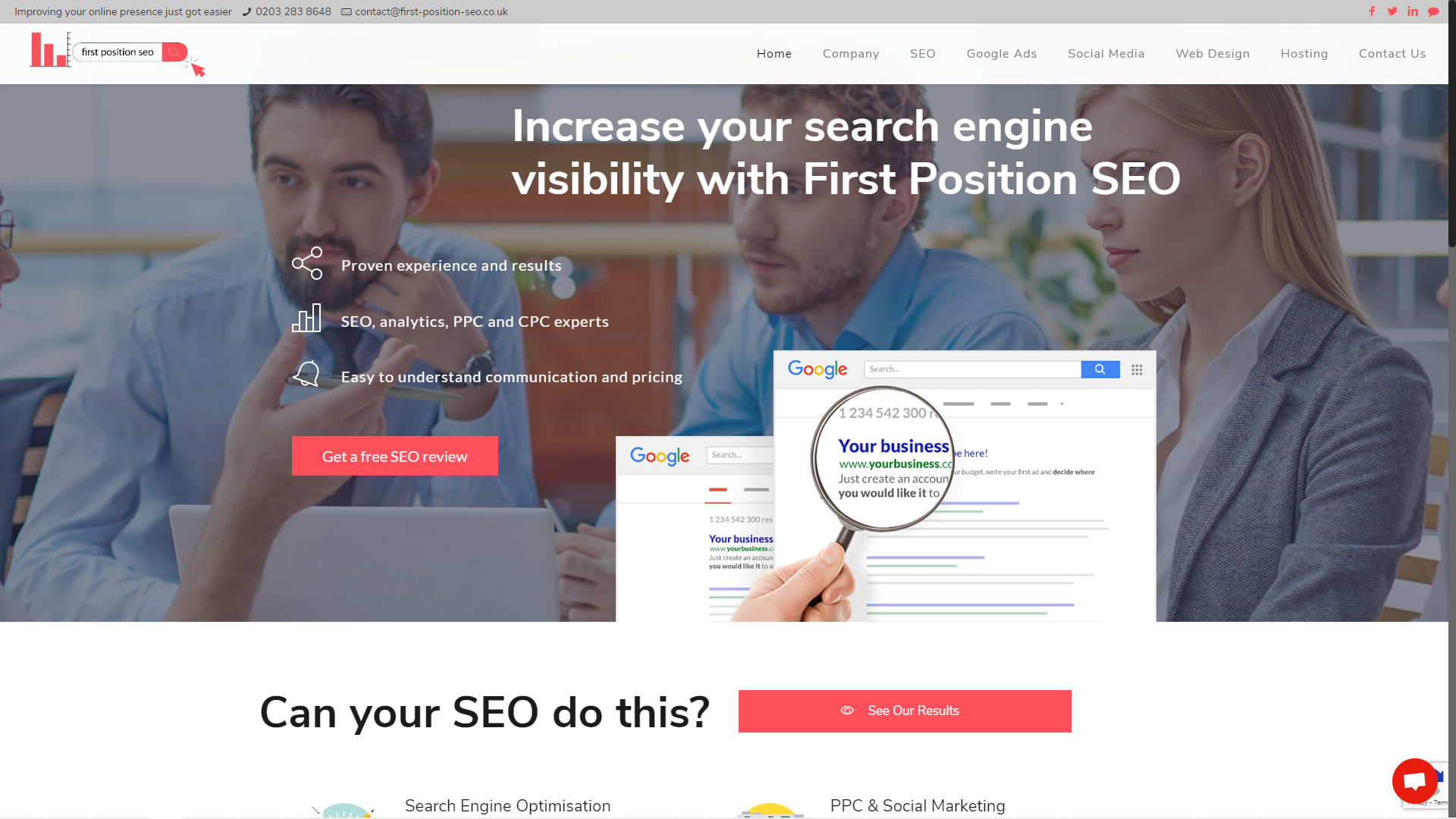 First Position SEO Website