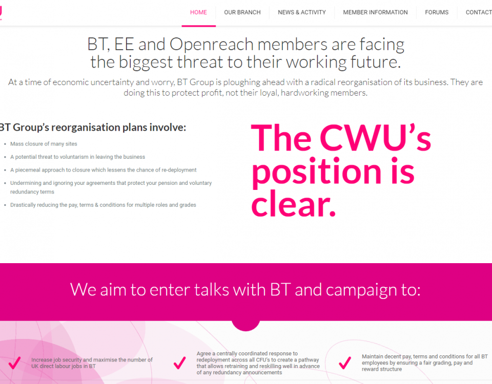 CWU Great Western Branch website