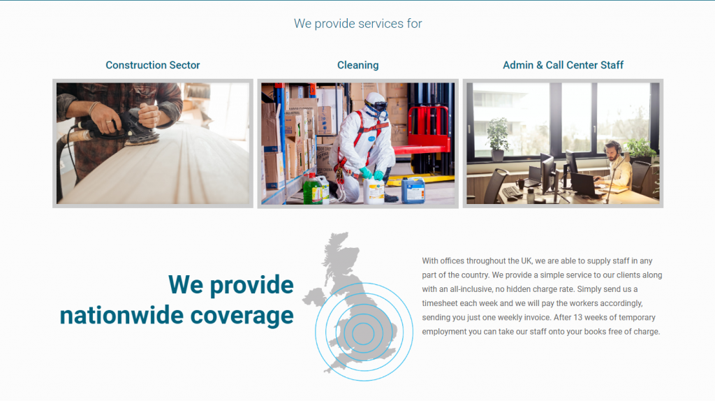 Nationwide Trades and Labour website homepage