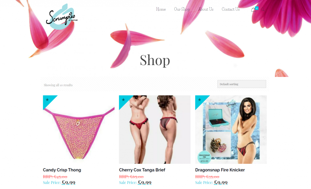 Scrumpies of Mayfair Ecommerce store
