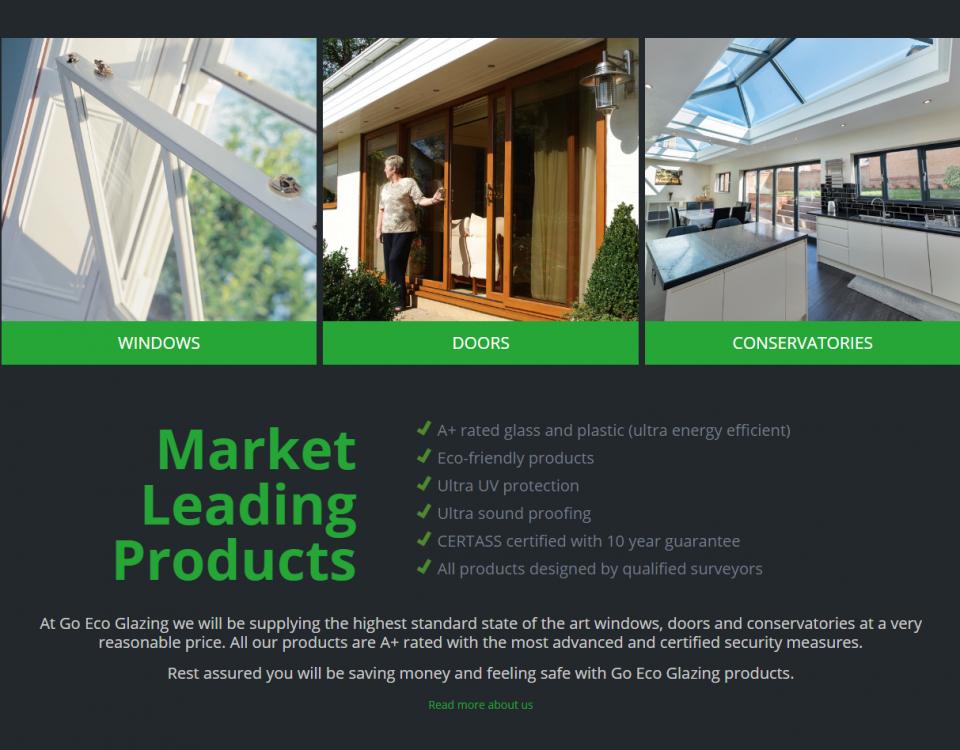 Go Eco Glazing website design screenshot