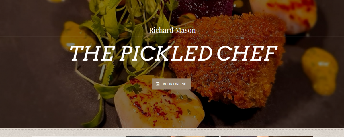 The Pickled Chef Home page designed by Love local Media
