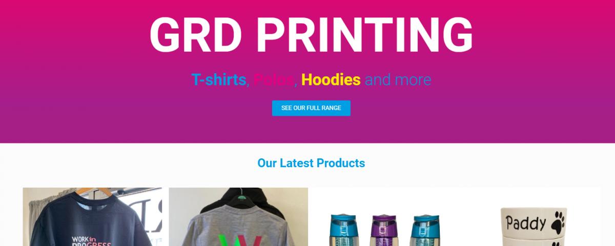 GRD Printing Website Homepage